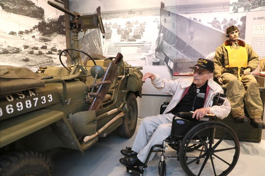 "Rene ""Kep"" Kepperling, 93, expounds on all the ways he loved the World War II-era jeep he often rode in like this one on display."