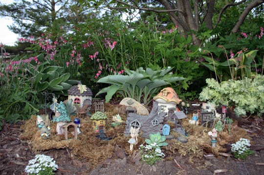 This is the perfect time of year for fairy garden design.You can usually find bargains on the tiny accessories at your favorite garden supply center this time of year.