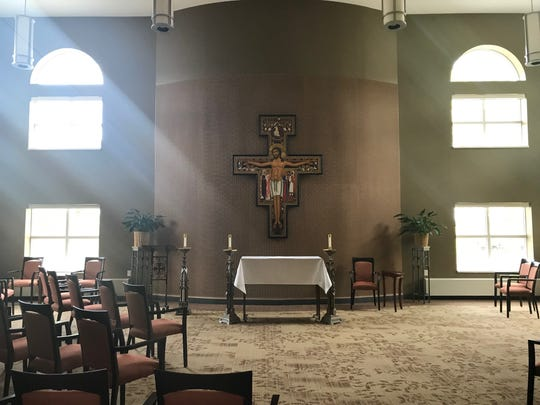 The new chapel in the Sisters of St. Francis of Assisi convent in St. Francis.