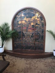 This stained glass window was constructed in the early 1900s and was placed in the new lobby of the new convent for the Sisters of St. Francis of Assisi.