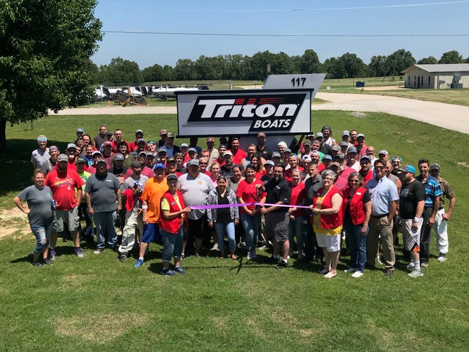 """White River Marine's Triton boats recently held a ribbon cutting during their annual employee appreciation picnic. The company is celebrating continued expansion of the plant. From the beginning of 2018, Triton has nearly tripled their number of employees. For local job opportunities, go to www.basspro.com/careers and click on the White River Marine Group logo. Under """"location"""" click Midway. All open positions will populate. Click the position of interest and complete the application."""