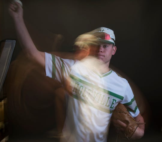 All-metro athlete Holtville's Drew Nobles poses for a portrait in Montgomery, Ala., on Tuesday, June 4, 2019.