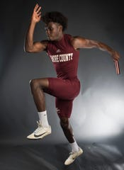 All-Metro athlete Elmore County's DJ Patrick poses for a portrait in Montgomery, Ala., on Thursday, May 23, 2019.