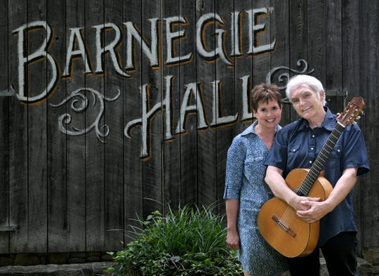 Demetria Kalodimos and Verlon Thompson have created a new TV series called Barnegie Hall, which features music and stories about Nashville's greatest songwriters.  Barnegie Hall is filmed at the couple's Williamson County cabin.
