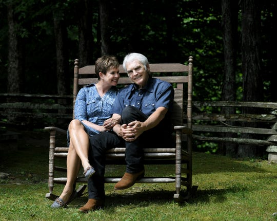 Demetria Kalodimos anf her husband, Verlon Thompson spend time at their cabin in Fernvale, Tenn. on Tuesday, June 4, 2019.