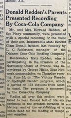 Article from the June 23, 1944 edition of The Dickson County Herald.