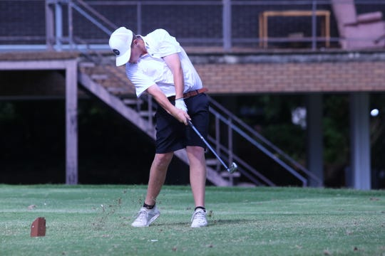 Tyler Williamson, of Springfield, hits an iron as he teed off No. 11 during the first day of the Tennessean/Metro Parks Schooldays golf tournament Wednesday, June 4, 2019, at McCabe Golf Course in Nashville.