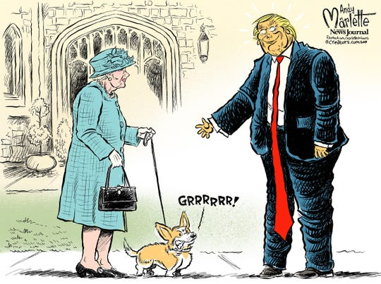 Queen meets President Trump
