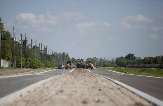 Construction of a Logan Boulevard extension from Collier County to Bonita Springs continues as crews prepare to create a roundabout at Bonita Beach Road.
