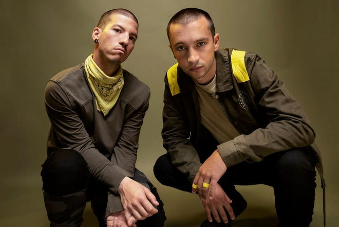 Twenty One Pilots Josh Dun, left, and Tyler Joseph released their fifth studio album, Trench, on Oct. 5, 2018.