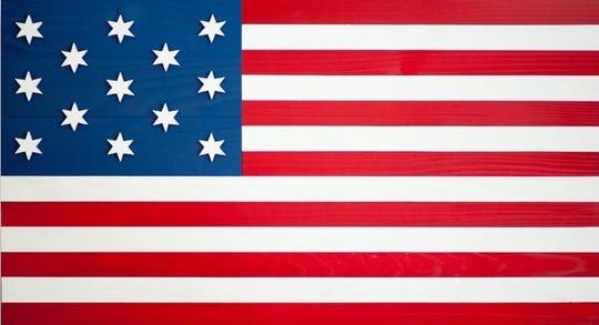 Francis Hopkinson's original 1777 American Flag