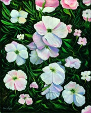 """Mexican Primrose"" is featured in artist Curt Stafford's ""Memories and Inspirations"" show at San Juan College."