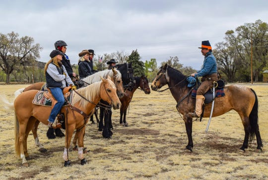 Riders participated in a previous mounted tour at Fort Stanton.