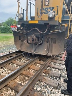 A CSX Corp. train struck a 76-year-old bicyclist on Tuesday, June  4, 2019.