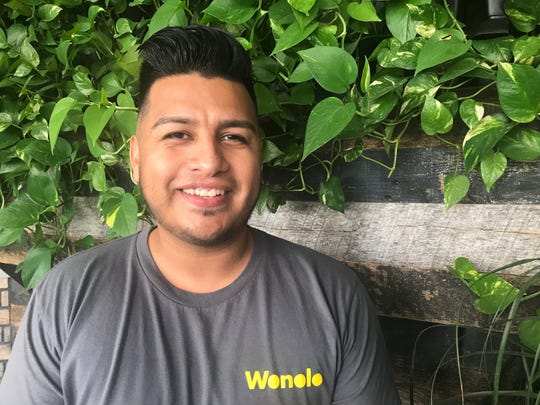 "Noe Murillo likes to find part-time ""gig"" jobs using a phone app."