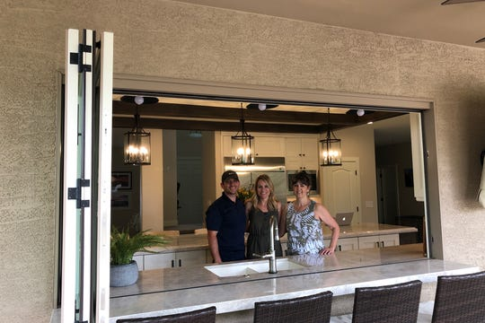 Fitch Hill owners (left to right) Chris and Molly Loughney are responsible for the kitchen remodel in Kellie Heisler's home.