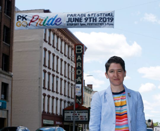 City of Poughkeepsie second ward councilperson Sarah Salem on Market Street on June 4, 2019.