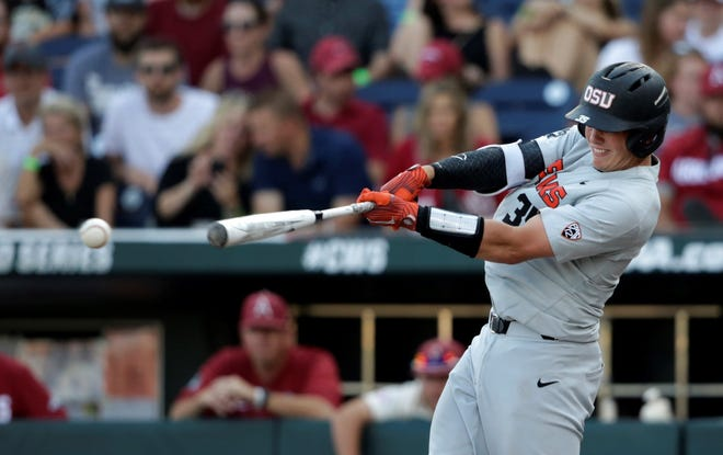 Oregon State's Adley Rutschman was the No. 1 overall pick in Monday's Major League Baseball Draft by the Baltimore Orioles.