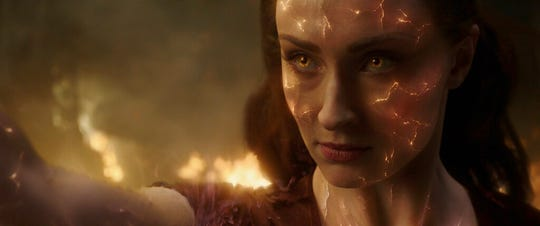 "Sophie Turner stars ""Dark Phoenix."" The movie opens Thursday at Regal West Manchester, Frank Theatres Queensgate Stadium 13 and R/C Hanover Movies."