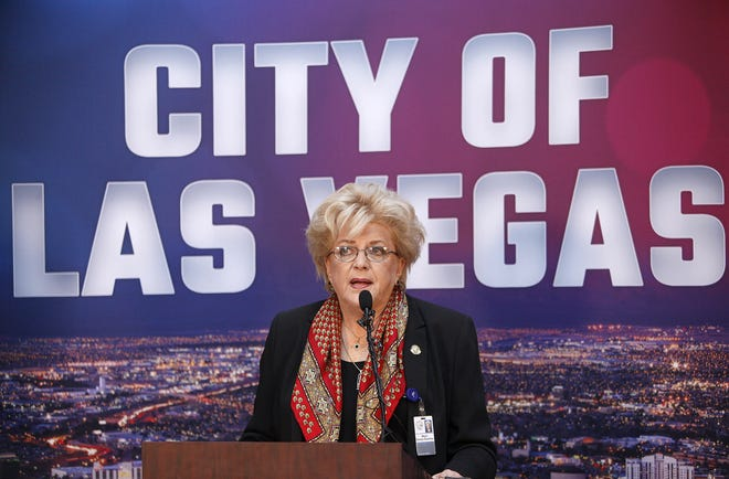 Las Vegas Mayor Carolyn Goodman announces that she has stage 2 breast cancer last week at a news conference at City Hall. She was diagnosed Jan. 17 and says the cancer is completely contained, manageable and can be treated. Afterward, she filed for her third term as mayor. She plans to receive treatment while campaigning for re-election.