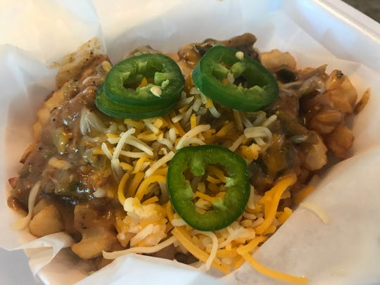 Rocky Mountain Chili smothers crinkle cut fries, served on the test menu at Aja Cantina in Brighton.