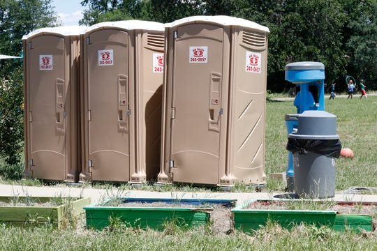 Boys at Chrysalis Charter School in Palo Cedro have had to use portable toilets since May 23 after school officials locked the regular boys bathroom due to student vandalism.