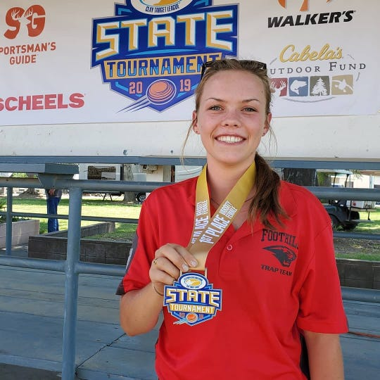 Foothill senior Mason Baseley earned first place at the California State High School Clay Target League state championship over the weekend.