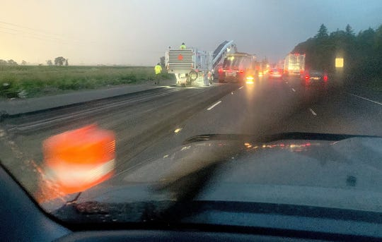 Drivers merging into the northbound lanes of Interstate 5 from Brooks face delays from an Oregon Department of Transportation paving project, part of $5.3 billion worth of roadwork the Legislature approved in 2017. Road crews had a rainy start as they began work this month on the 12.4-mile stretch of Interstate 5.