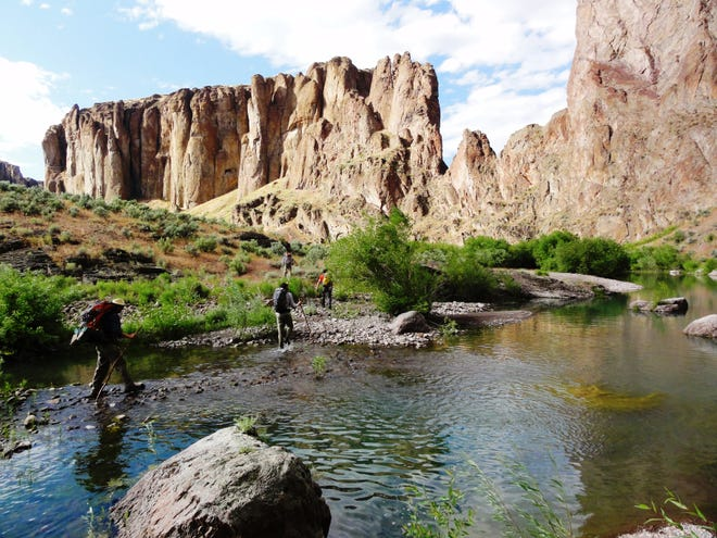 Hiking the Oregon Desert Trail in the Owyhee Canyonlands.