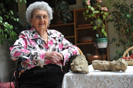 Ruth Andresen, 98, served as a junior geologist in the Military Geology Unit during World War II.