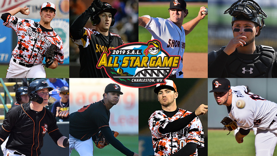 The Shorebirds are being represented in the SAL All-Star Game by a team-record eight players.