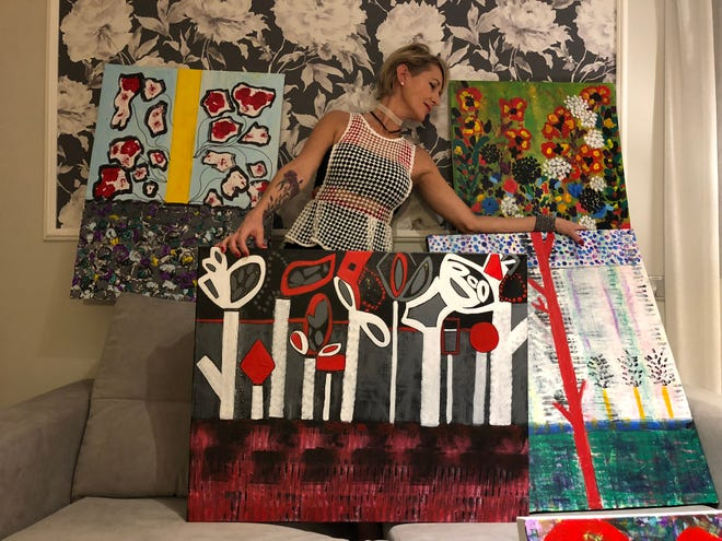 Artist Shannon Bacon will be among the artists featured at the First Friday Art Walk in downtown Hollister this week.