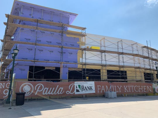 Paula Deen's Family Kitchen is shown under construction at Branson Landing on June 4, 2019.