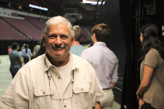 Lawton Chiles High School math teacher and coach Stan Goldstein at the Donald L. Tucker Civic Center during the high school's practice graduation ceremony May 29.