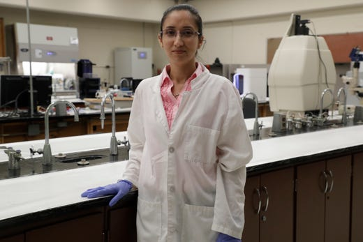 Shallu Kutlehria, a Florida A&M University PhD student studying pharmaceutics, is a graduate assistant to Professor Mandip Sachdeva, creating the first 3D printed human cornea in the United States.