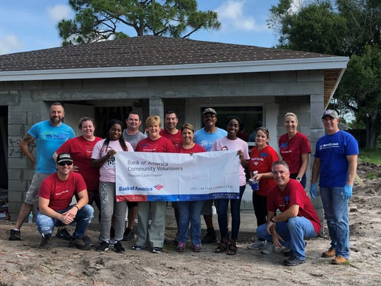 On May 4, Bank of America employee volunteers rolled up their sleeves to help build a new home for a Port St. Lucie family as part of Bank of America's 33-year commitment to Habitat for Humanity. These volunteer efforts helped make the dream of home ownership a reality for future homeowners Jata and Samuel Moise.