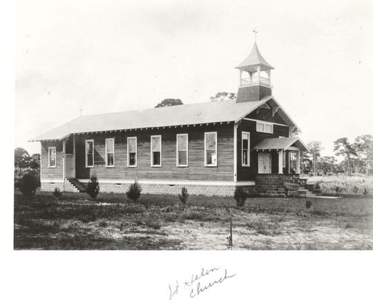 The original St. Helen church was along the block of 20th Avenue (Ute Path on the plat map) and 21st Street (was just First Street).  The whole block has church buildings now.