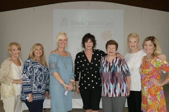 Volunteers from the Hibiscus Indian River County Guild, from left, Mackie Duch, Rosemary Smith, Diane Wilhelm, Kim Seward, Linda Teetz, Christine Endres and Petra King.