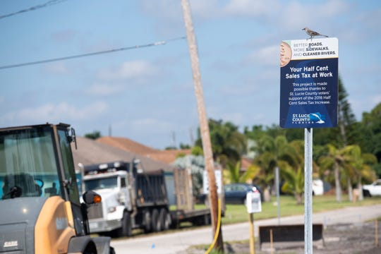 St. Lucie County voters approved raising the sales tax from 6½% to 7% for 10 years to pay for road, sidewalk, draining and similar projects in the county areas like the Paradise Park neighborhood (pictured), Port St. Lucie, Fort Pierce and St. Lucie Village.