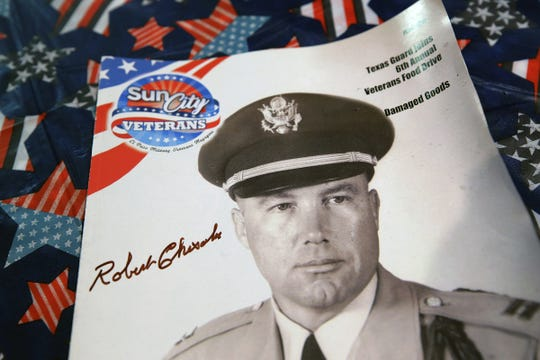 """An edition of the Sun City Veterans magazine featuring Lt. Col. Robert E. """"Bob"""" Chisolm."""
