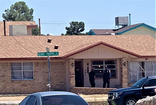 El Paso police were at a home on Henry Phipps Drive on Tuesday as part of a murder investigation.