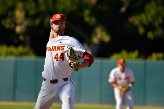 Newbury Park High graduate Chris Clarke allowed just six earned runs in 27 appearances, going 5-2 with eight saves and a 1.03 ERA for USC this season. He was drafted by the Chicago Cubs on Tuesday.