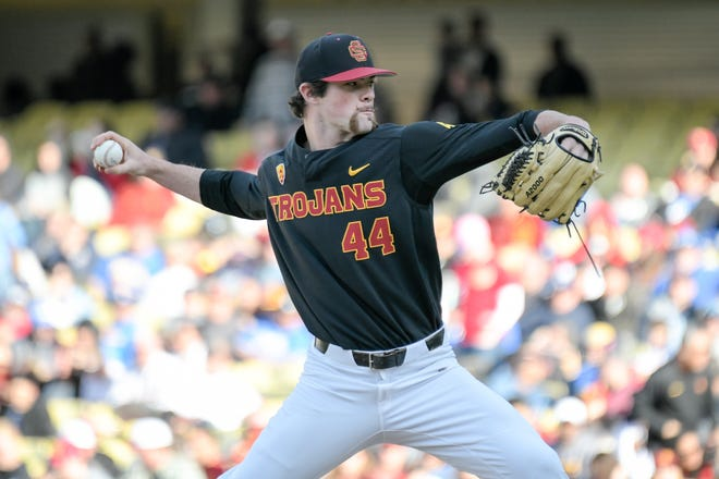 USC pitcher Chris Clarke, a Newbury Park High graduate, was taken in the fourth with the 132nd overall pick by the Chicago Cubs in the baseball draft Tuesday.