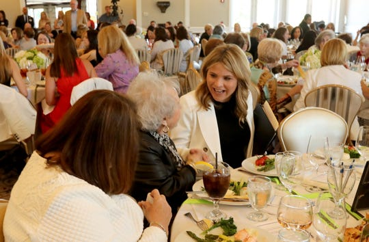 Jenna Bush Hager, co-host of NBC's TODAY, chats with attendees at the White Plains Hospital spring luncheon at Willow Ridge Country Club in Harrison June 4, 2019. Bush Hager was the keynote speaker at the event.