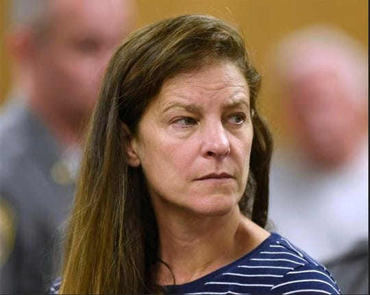 Michelle C. Troconis is arraigned on charges of tampering with or fabricating physical evidence and first-degree hindering prosecution at Norwalk Superior Court in Norwalk, Connecticut, Monday, June 3, 2019. Troconis and Fotis Dulos were arrested at an Avon hotel late Saturday night and held on a $500,000 bond for charges of tampering with or fabricating physical evidence and first-degree hindering prosecution. Fotis Dulos is the estranged husband of Jennifer Dulos, the 50-year-old mother of five who has been missing since May 24.