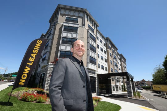 Developer Joshua Goldstein at The Sheldon at Suffern Station, a transit-oriented luxury rental apartment building in Suffern June 4, 2019.