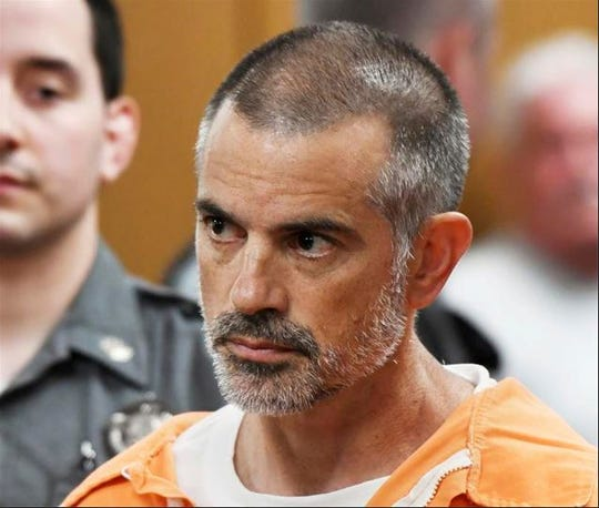 Fotis Dulos is arraigned on charges of tampering with or fabricating physical evidence and first-degree hindering prosecution at Norwalk Superior Court in Norwalk, Connecticut, Monday, June 3, 2019. Fotis Dulos, and his girlfriend, Michelle C. Troconis, were arrested at an Avon hotel late Saturday night and held on a $500,000 bond for charges of tampering with or fabricating physical evidence and first-degree hindering prosecution. Fotis Dulos is the estranged husband of Jennifer Dulos, the 50-year-old mother of five who has been missing since May 24.