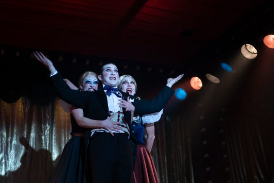 "Ethan Slater, center, plays Joel Grey in Episode 1 of FX's series ""Fosse/Verdon,"" titled ""Life is a Cabaret."" Slater, a Tony nominee last year in the title role of ""SpongeBob SquarePants,"" will co-host the 2019 Metro Awards on June 10 at Purchase PAC."