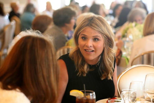 """Today"" show co-host Jenna Bush Hager chats with attendees at a hospital luncheon in Harrison, New York on June 4."
