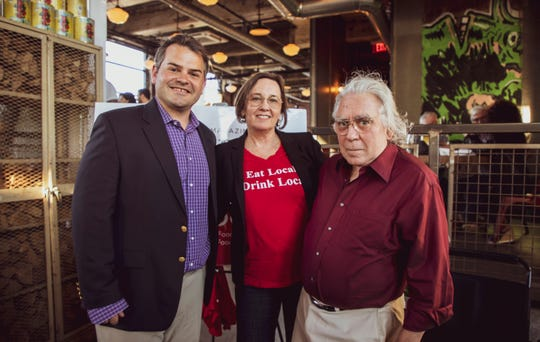 Pictured left to right at Westchester Magazine's Wine + Food Festival kick-off at Fortina in Yonkers June 3, 2019: Michael Martinelli, group publisher, Hudson Valley Group, Janet Crawshaw, Valley Table president and publisher and co-founder, Hudson Valley Restaurant Week and Jerry Novesky, editor-in-Chief and Hudson Valley Restaurant Week co-founder.